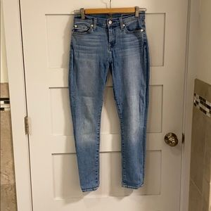 7 For All Mankind Gwenevere Crop & Roll Jeans 25